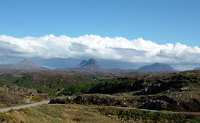Assynt hills and Highland view